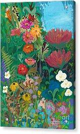 Zinnias Garden Acrylic Print