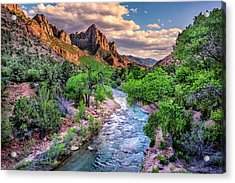 Zion Canyon At Sunset Acrylic Print