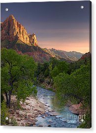 Zion Canyon Sunset Acrylic Print