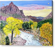 Acrylic Print featuring the painting Zion Creek by Kevin Daly