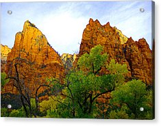 Zion In Autumn Acrylic Print by Dennis Hammer
