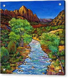 Zion Acrylic Print by Johnathan Harris