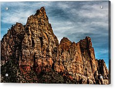 Zion Mountains 2c Acrylic Print by Don Risi