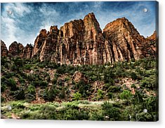 Zion Mountains 3c Acrylic Print by Don Risi