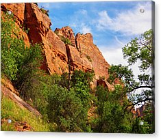 Zion National Park 1 Acrylic Print by Penny Lisowski
