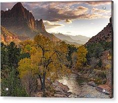 Zion National Park Autumn Acrylic Print by Leland D Howard