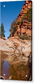 Zion Plateau Water Hole Acrylic Print by Edwin Voorhees