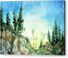 Zion Acrylic Print by Stephen Boyle