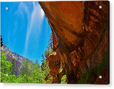 Zion - Under The Falls Acrylic Print