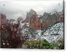 Zion Winter Skyline Acrylic Print