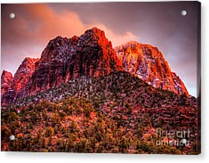 Zion's Fire V Acrylic Print by Irene Abdou