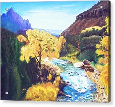Zion's In Autumn Acrylic Print
