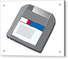 Zip Disk Acrylic Print