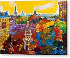 Znamenka Street. Moscow Acrylic Print by Khadzhi-Murad Alikhanov