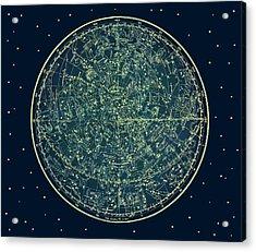 Zodiac Star Map Acrylic Print by Marianna Mills