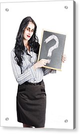 Zombie Businesswoman Acrylic Print by Jorgo Photography - Wall Art Gallery