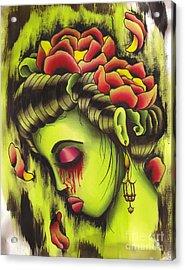 Zombie Girl No2 Acrylic Print by Lauren B