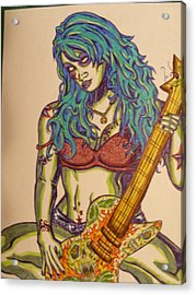 Zombie Guitar Acrylic Print by Michael Toth