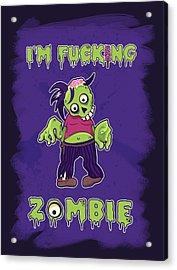 Acrylic Print featuring the digital art Zombie by Julia Art