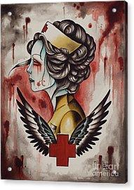 Zombie Nurse Acrylic Print