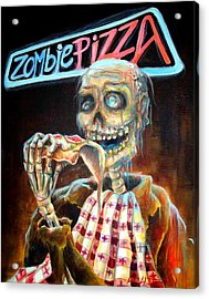 Zombie Pizza Acrylic Print