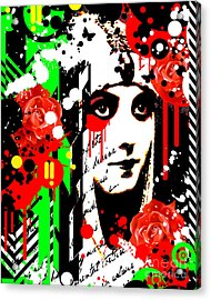 Zombie Queen Roses Acrylic Print by Chris Andruskiewicz