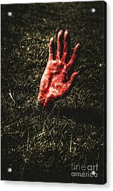 Zombie Rising From A Shallow Grave Acrylic Print by Jorgo Photography - Wall Art Gallery