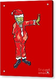 Zombie Santa Claus Illustration Acrylic Print by Jorgo Photography - Wall Art Gallery