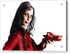 Zombie Shaking Severed Hand Acrylic Print by Jorgo Photography - Wall Art Gallery