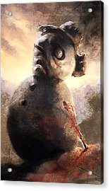 Acrylic Print featuring the painting Zombie Snowman by Sean Seal
