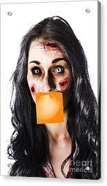 Zombie Woman Crying For Help Acrylic Print by Jorgo Photography - Wall Art Gallery