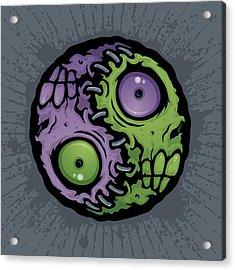 Zombie Yin-yang Acrylic Print by John Schwegel