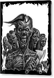 Zombies  Acrylic Print by Tony Koehl