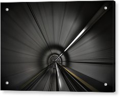 Zooming Along In The Tunnel Of Hope Acrylic Print