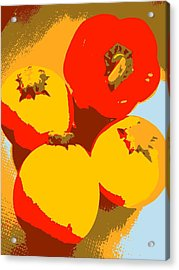 Zucchini And Bell Pepper Acrylic Print