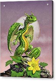 Zucchini Dragon Acrylic Print by Stanley Morrison