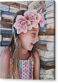 Acrylic Print featuring the painting Zuri Painting by Mike Ivey