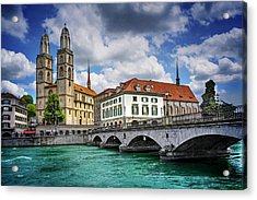 Acrylic Print featuring the photograph Zurich Old Town  by Carol Japp