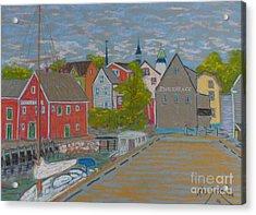 Zwickers Wharf Lunenburg Acrylic Print