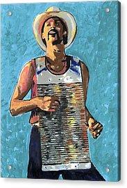 Zydeco Joe Acrylic Print by Jerry Schwehm