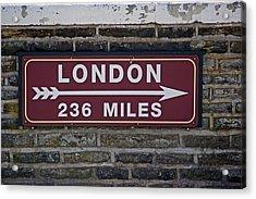 06/06/14 Settle. Station View. Destination Board. Acrylic Print