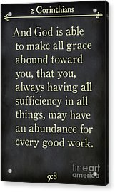 2 Corinthians 9 8-bible Verse Wall Art Collection Acrylic Print