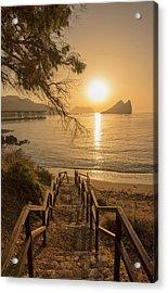 Access To The Beach At Dawn Acrylic Print