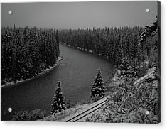 A View From The Side Of The Bow Valley Parkway, Banff National P Acrylic Print