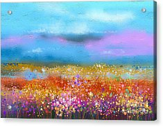 Abstract Colorful Oil Painting Acrylic Print