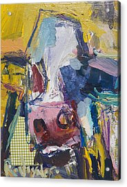Abstract Cow Painting Acrylic Print