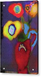 Abstract Floral Art 367 Acrylic Print