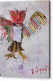 Abstract Owl Art Acrylic Print