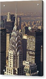 Aerial View Of The Chrysler Building Acrylic Print by New York Daily News Archive