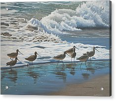 Acrylic Print featuring the painting Afternoon Surf by Peter Mathios